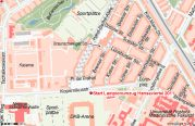 Treffpunkt Laternenumzug Hansaviertel im Stadtplan