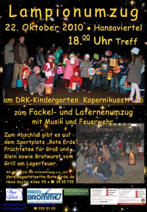 Lampionumzug im Rostocker Hansaviertel - Plakat